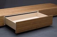 Maßmöbel-Lowboard-Lade-offen-Detail